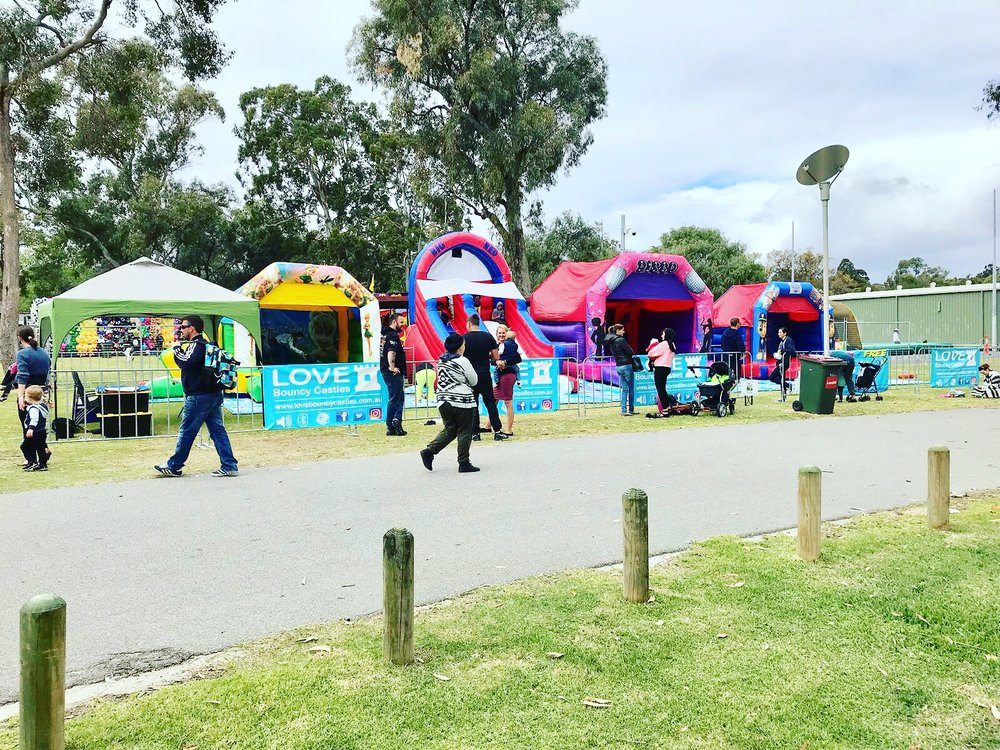 Love Bouncy Castles Set Up For An Event In Perth