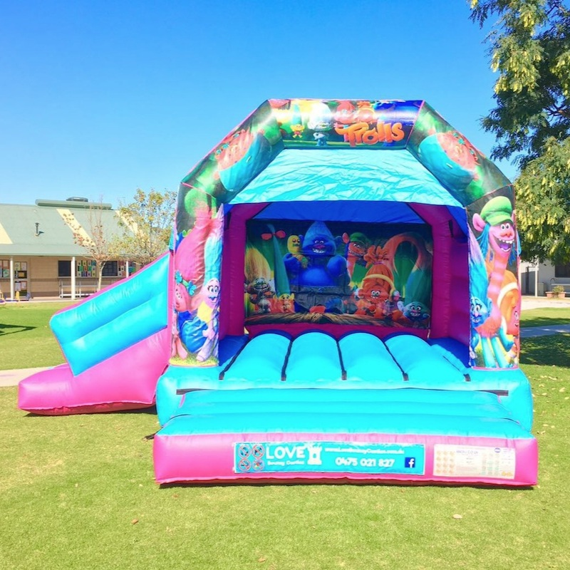 Combo Bouncy Castles - Day hire – 8am to 4pm (Every day)Night hire – 5pm to 7am the following morning (Every day)Hire times are flexible :)Castle Size 4mL x 4mW x 3.4mHSuitable from 2 yrsCapacity – Up to 6 kids at a timeOnly $299 + GST All Day or Night HireDiscount for multiple bookings