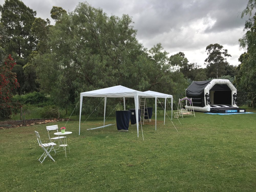 Wedding Bouncy Castle Set Up In Perth, Western Australia