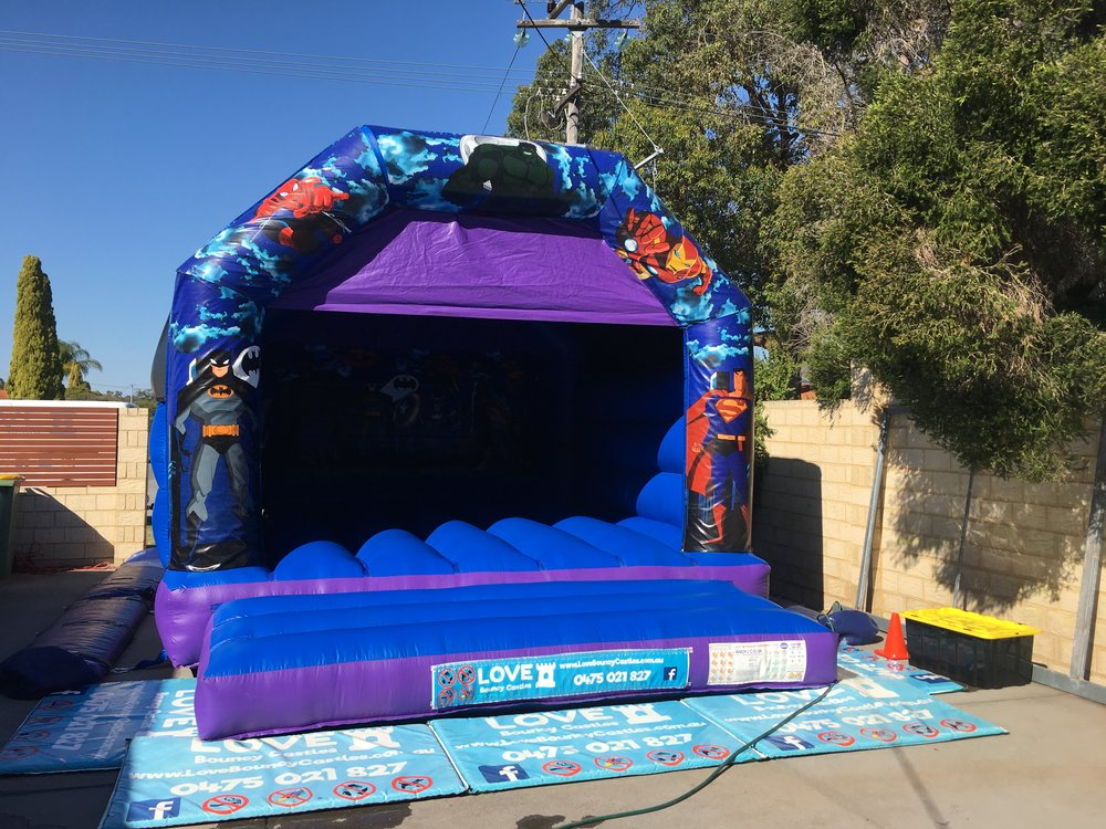 Adult Super Heros Bouncy Castle In Perth