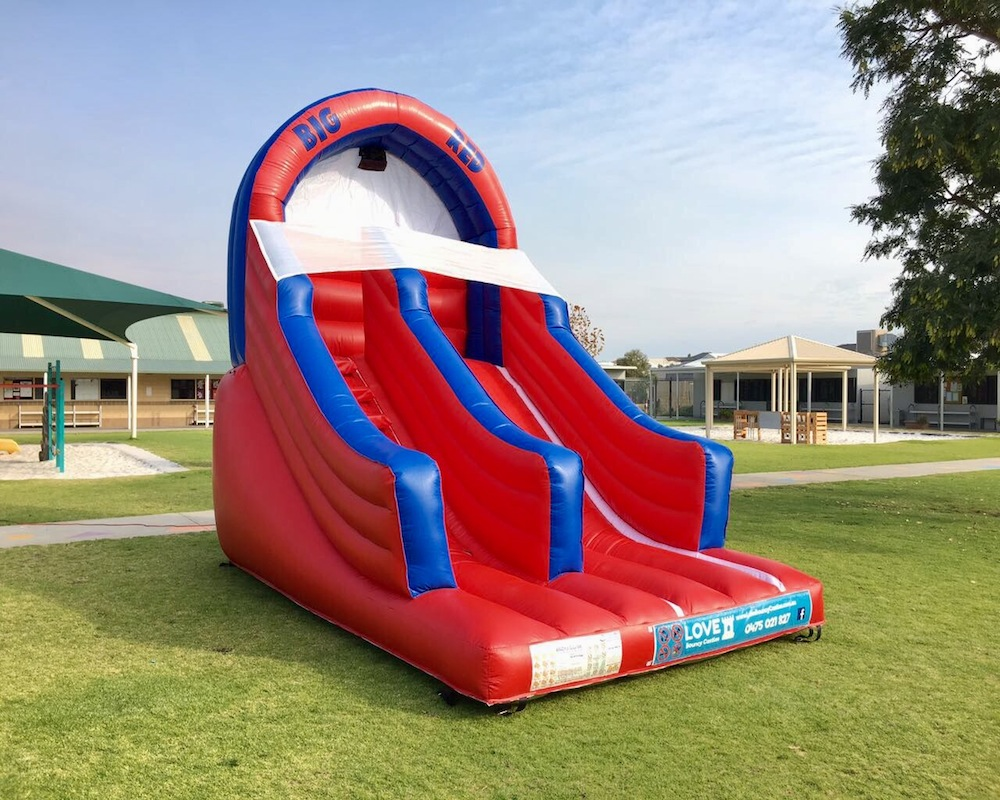 Inflatable Water Slide Hire Rockingham - ADD A HOSE AND MAKE ME A WATER SLIDE !Castle Size 4.5mL x 4mW x 4.5mHSuitable From 3 yrsCapacity – Up to 4 patrons at a timePricesHalf Day Hire ( 10am to 2pm ) $250Full Day Hire ( 10am to 4pm ) $300Night Hire ( 4pm to 7am ) $350Prices are based on yard parties. For park set up or events please call or email for a quotation.