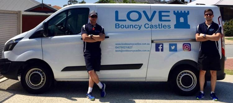 Love Bouncy Castles Crew ready to deliver your party entertainment around Perth