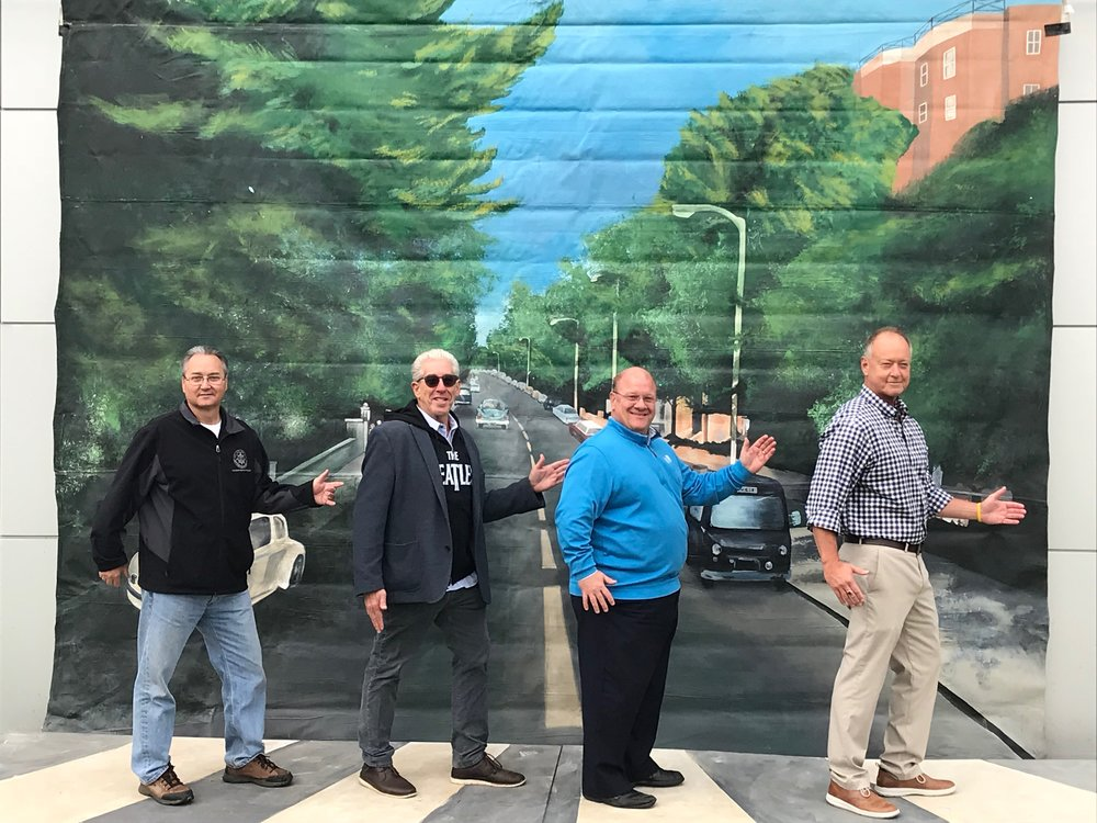 Pictured above left to right: Paul Northam (City of Jeffersonville Parks & Recreation Director), Gary Jacob (Founder of AROTR), Jim Epperson (Executive Director of SoIN Tourism), Jeffersonville Mayor Mike Moore