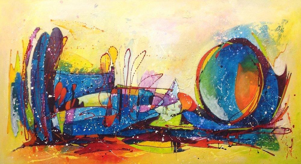 Movement, Acrylic mixed media, 180 - 100