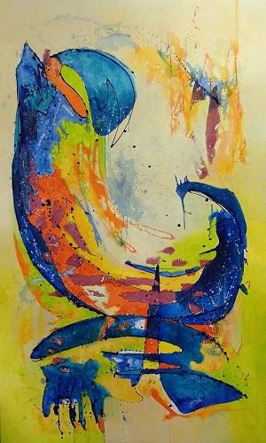 The Wave, Acrylic mixed media, 120 - 200