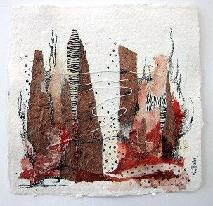 Landscape 3, O.I. ink mixed media, 15 - 15