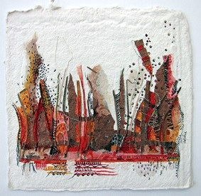 Landscape 7, O.I. ink mixed media, 30 - 30