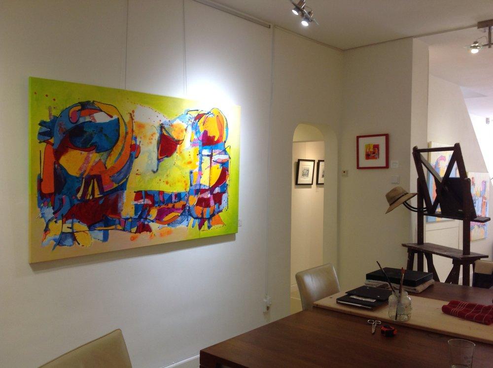 """Nieuw werk :  """"Fun""""  acryl mixed media. 160 - 100 linnen"""