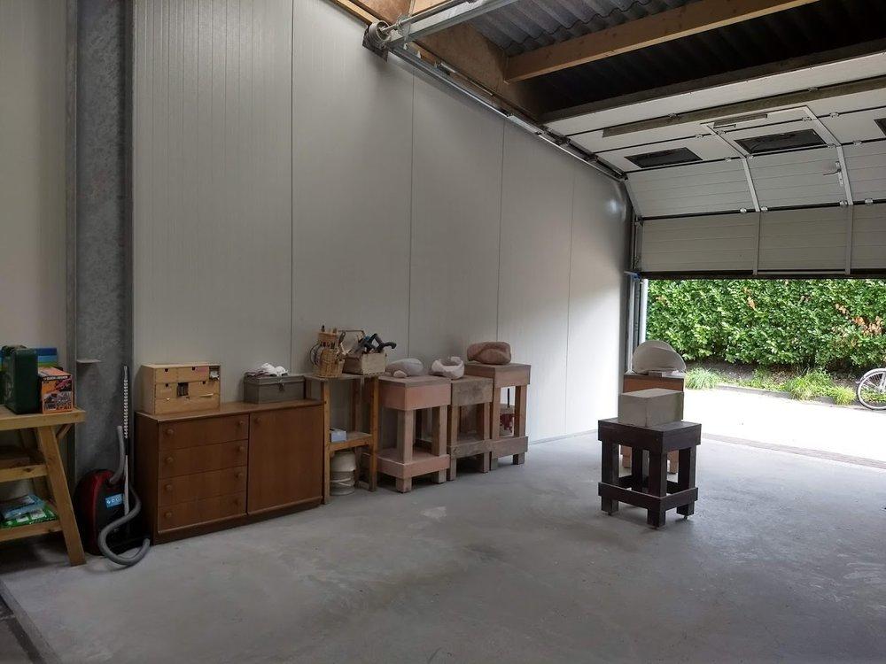 Opbouw atelier.