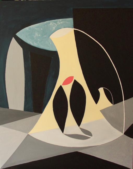 """""""Couple""""  (80x100 cm), acrylic over canvas"""