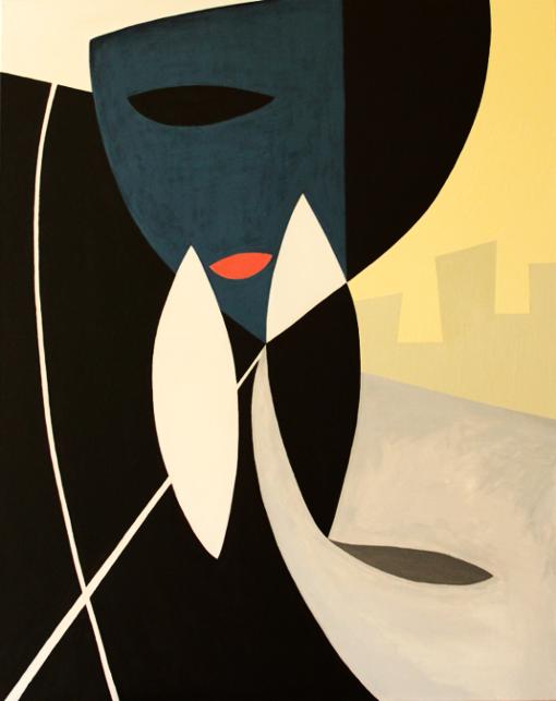 """""""Hidden""""  (80x100 cm), acrylic over canvas"""