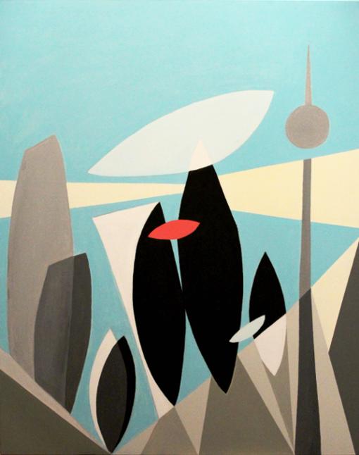 """Three of a kind (family)""  (80x100 cm), acrylic over canvas"
