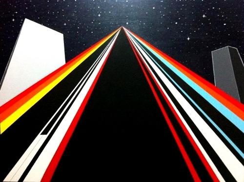 """Abuelita Studios""  (130x97 cm), acrylic over canvas"