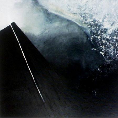 """""""Pulsión V""""  (90x90 cm), acrylic over canvas"""