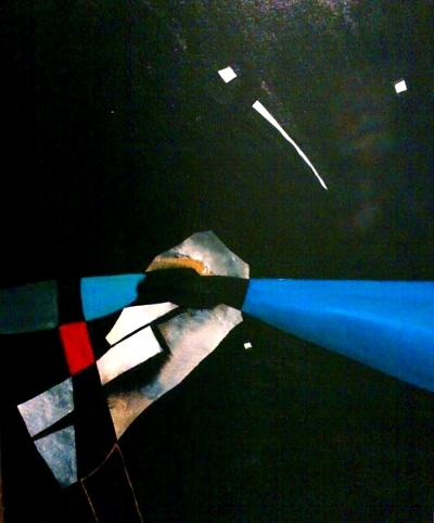 """""""Pulsión II""""  (70x55 cm), acrylic over canvas"""
