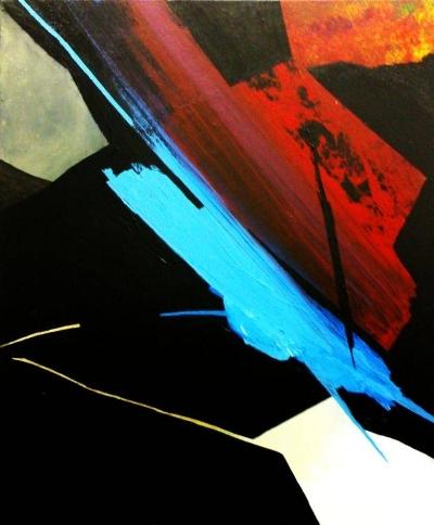 """Pulsión III""  (55x65 cm), acrylic over canvas"