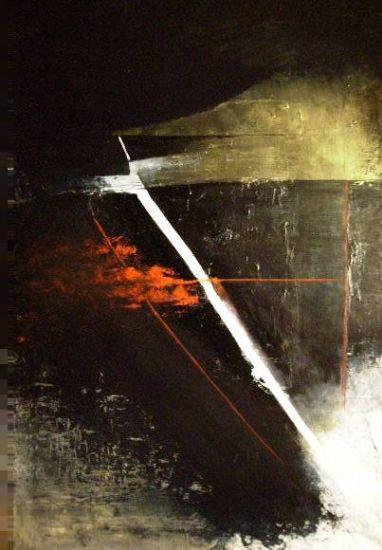 """""""Pulsión I""""  (70x94 cm), oil over canvas"""