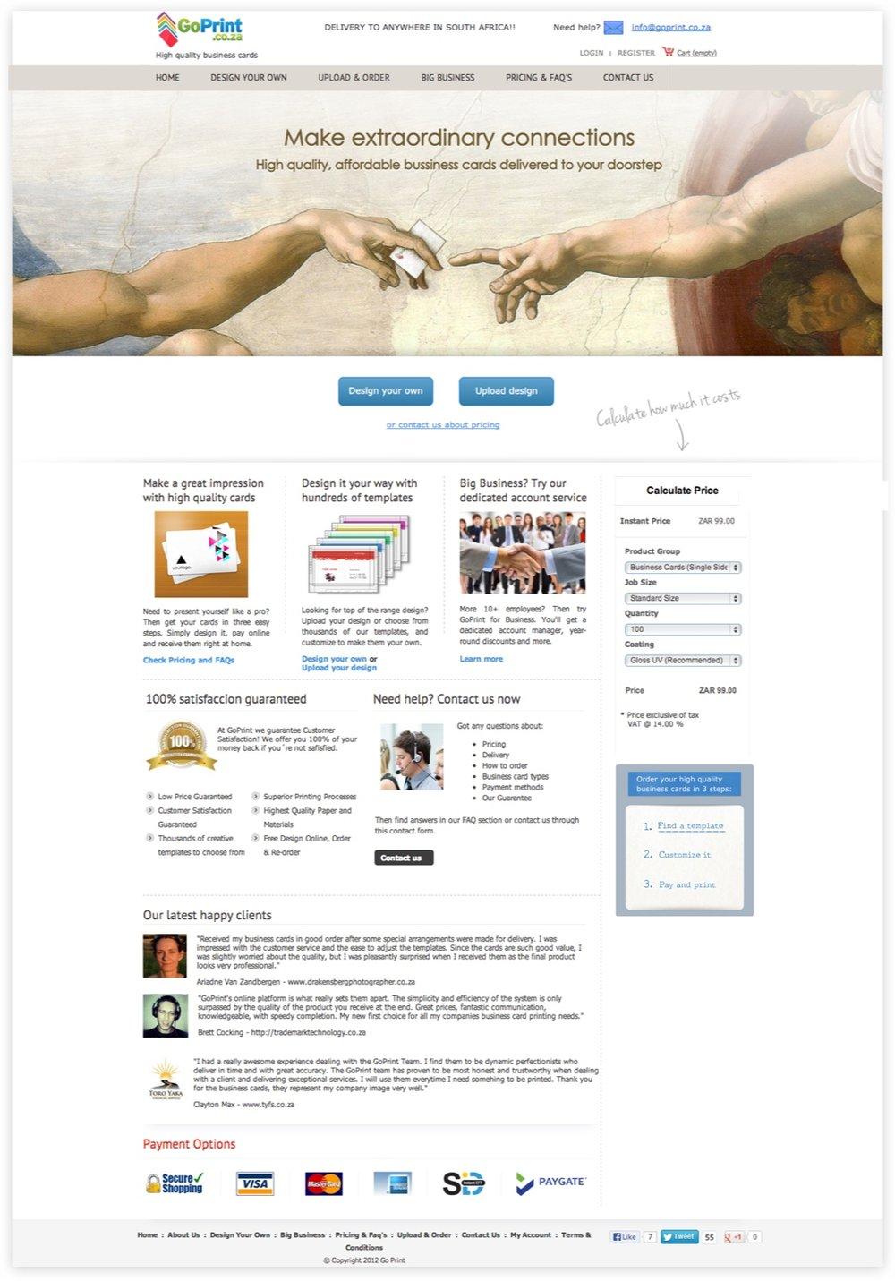 New version:  website