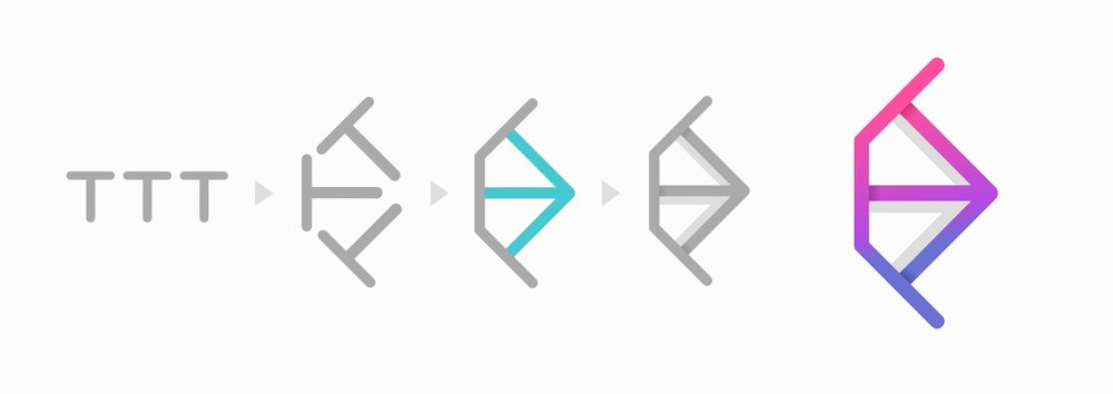 Configuración de las 3 tes en vertical y en rotación para su posterior configuración en forma de flecha (3era figura)