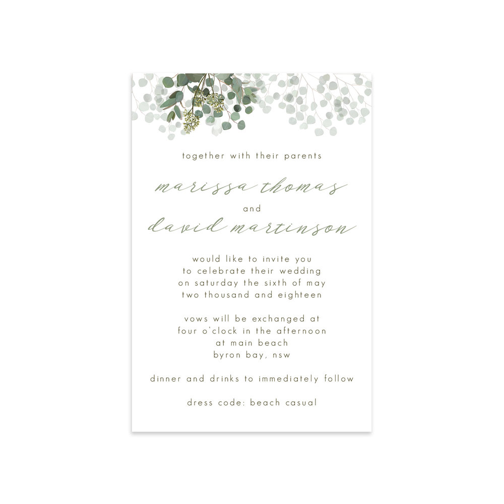 Eucalyptus\' Suite — Ficus and Fig Design | Custom Wedding ...