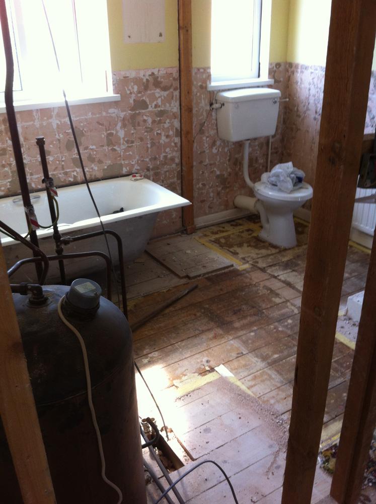 Bathrooms in progress