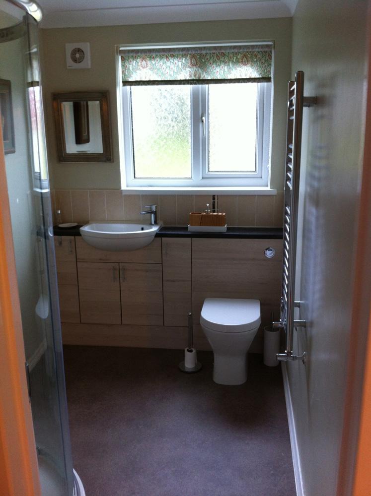 The finished en-suite bathroom