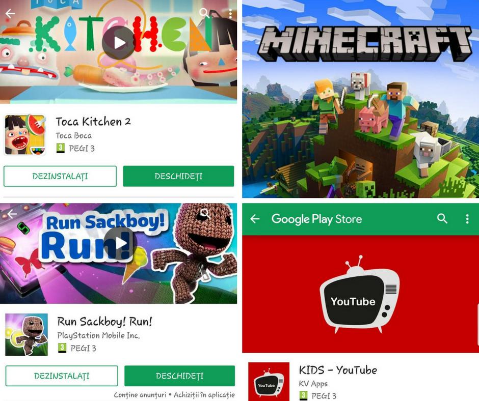 jocuri pentru copii, aplicatii pentru copii, muzica pentru copii