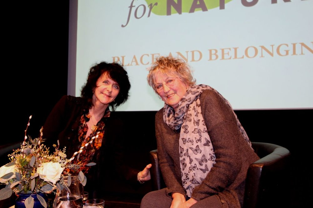 Ruth Padel and Germaine Greer © Tim Birkhead