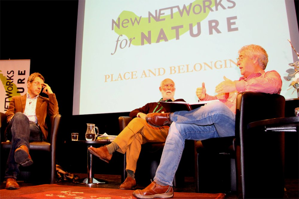 George Monbiot, Jeremy Mynott and Tony Juniper © Tim Birkhead