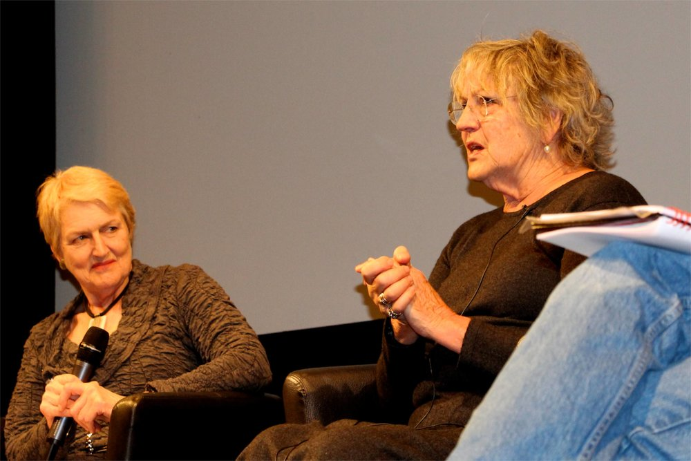 Barbara Young and Germaine Greer © Tim Birkhead