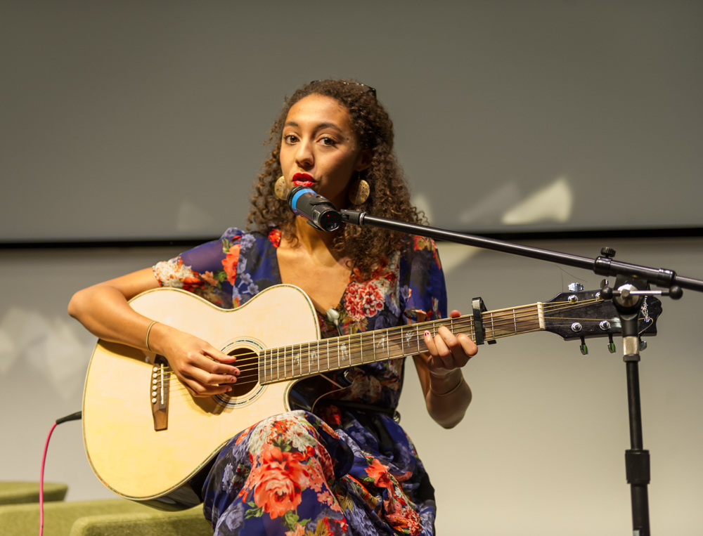 Jade Cuttle sings her beautiful song, The Quiver Tree © Cheryl-Samantha Owen