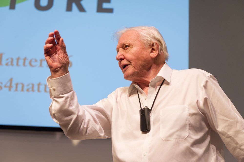 Sir David Attenborough speaks to hope and conservation © Cheryl-Samantha Owen