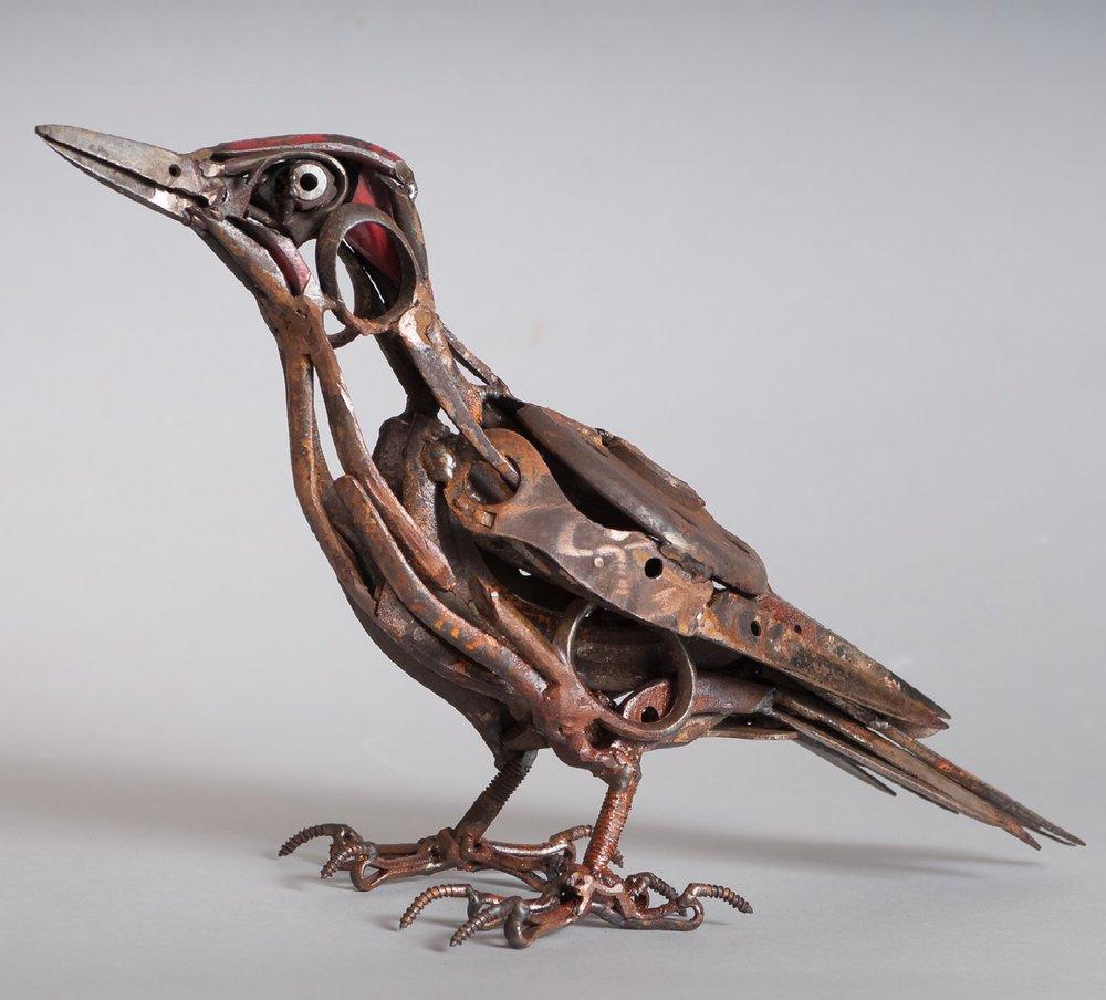 Harriet Mead - Scissor Green Woodpecker