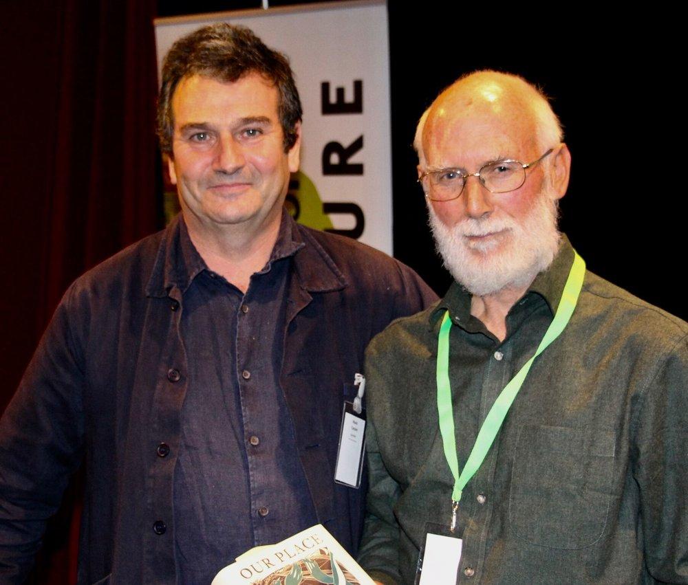 Mark Cocker with Jeremy Mynott