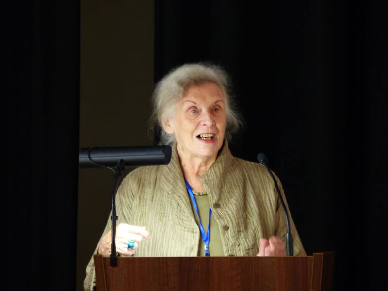 Professor Dame Gillian Beer delivering the First Plenary at the event.jpg