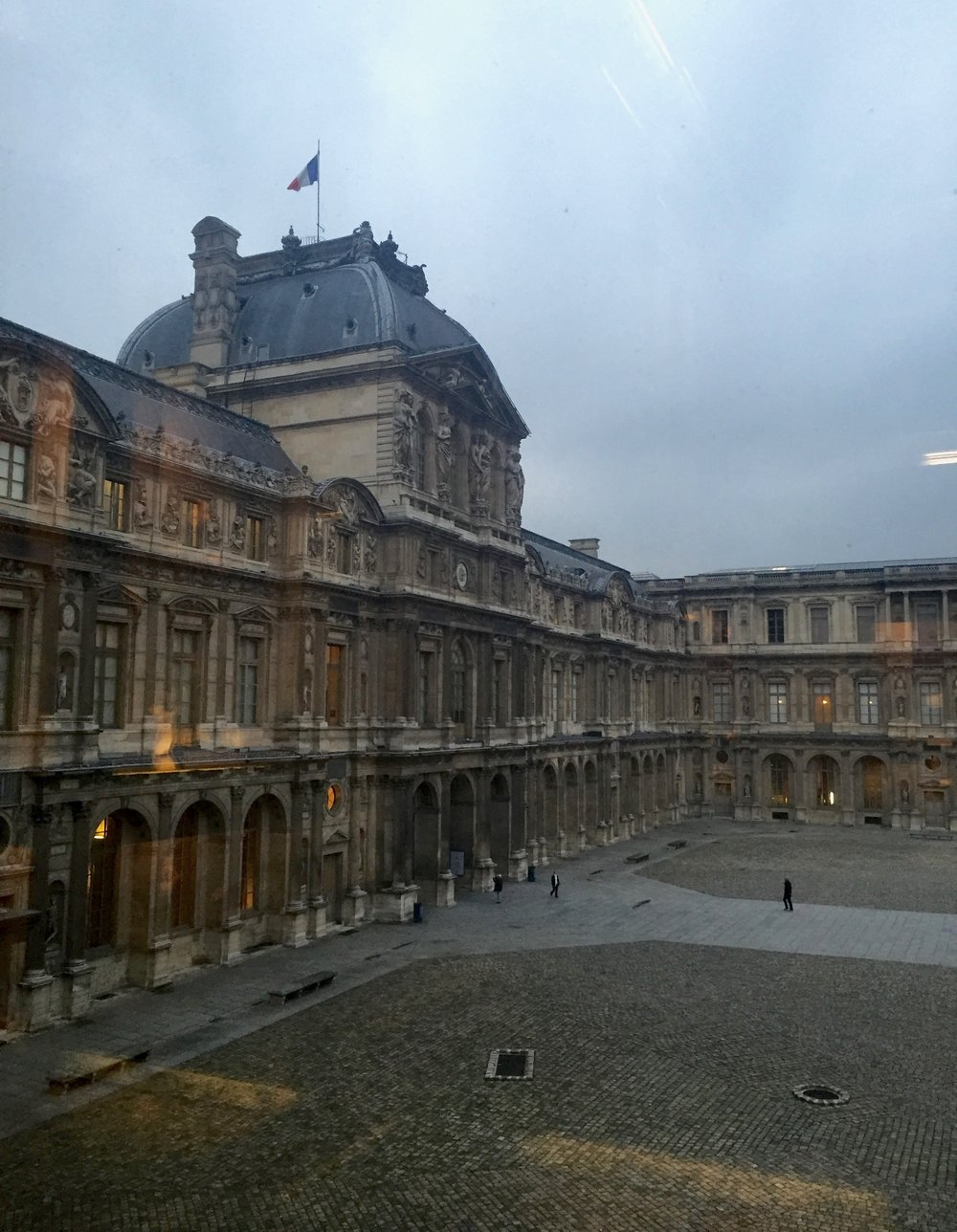 Le Louvre Courtyard   photo by L.D. Van Cleave