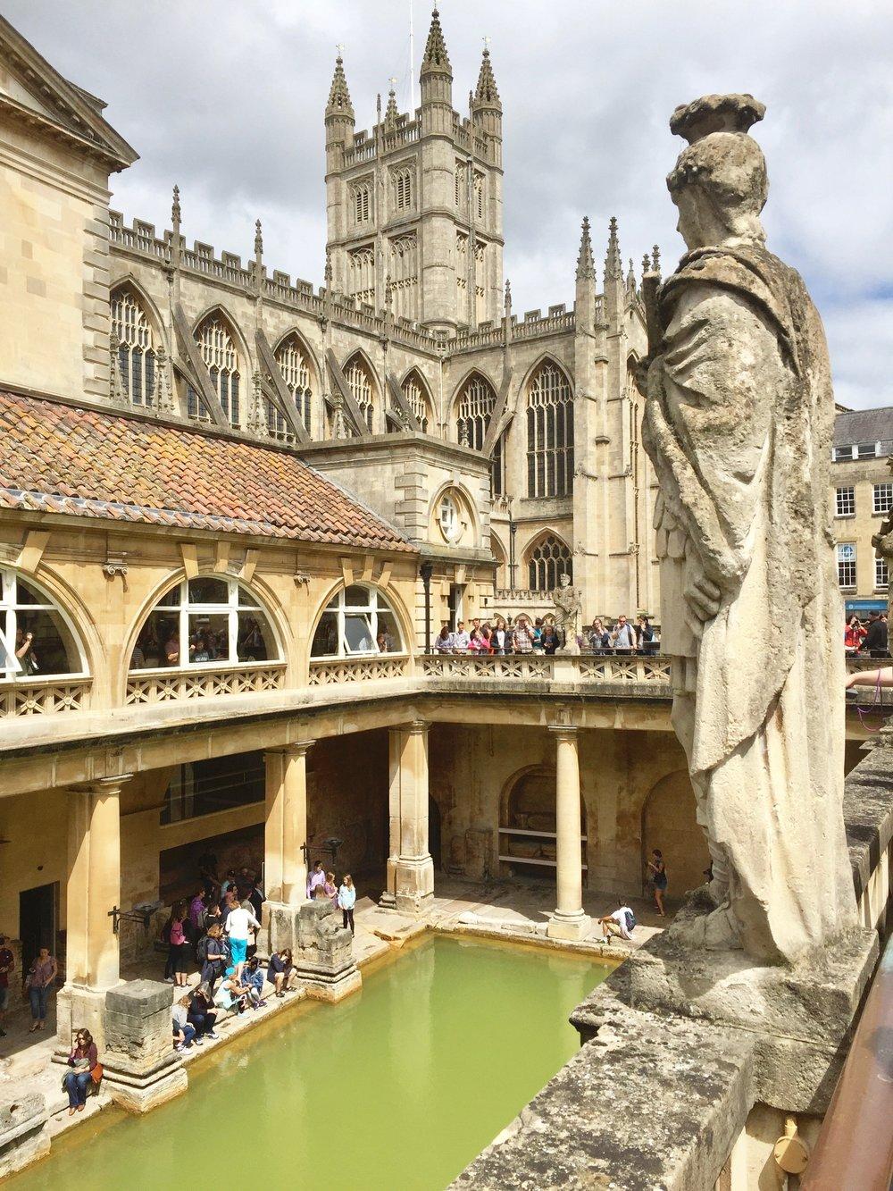 Roman Bath    photo by L.D. Van Cleave