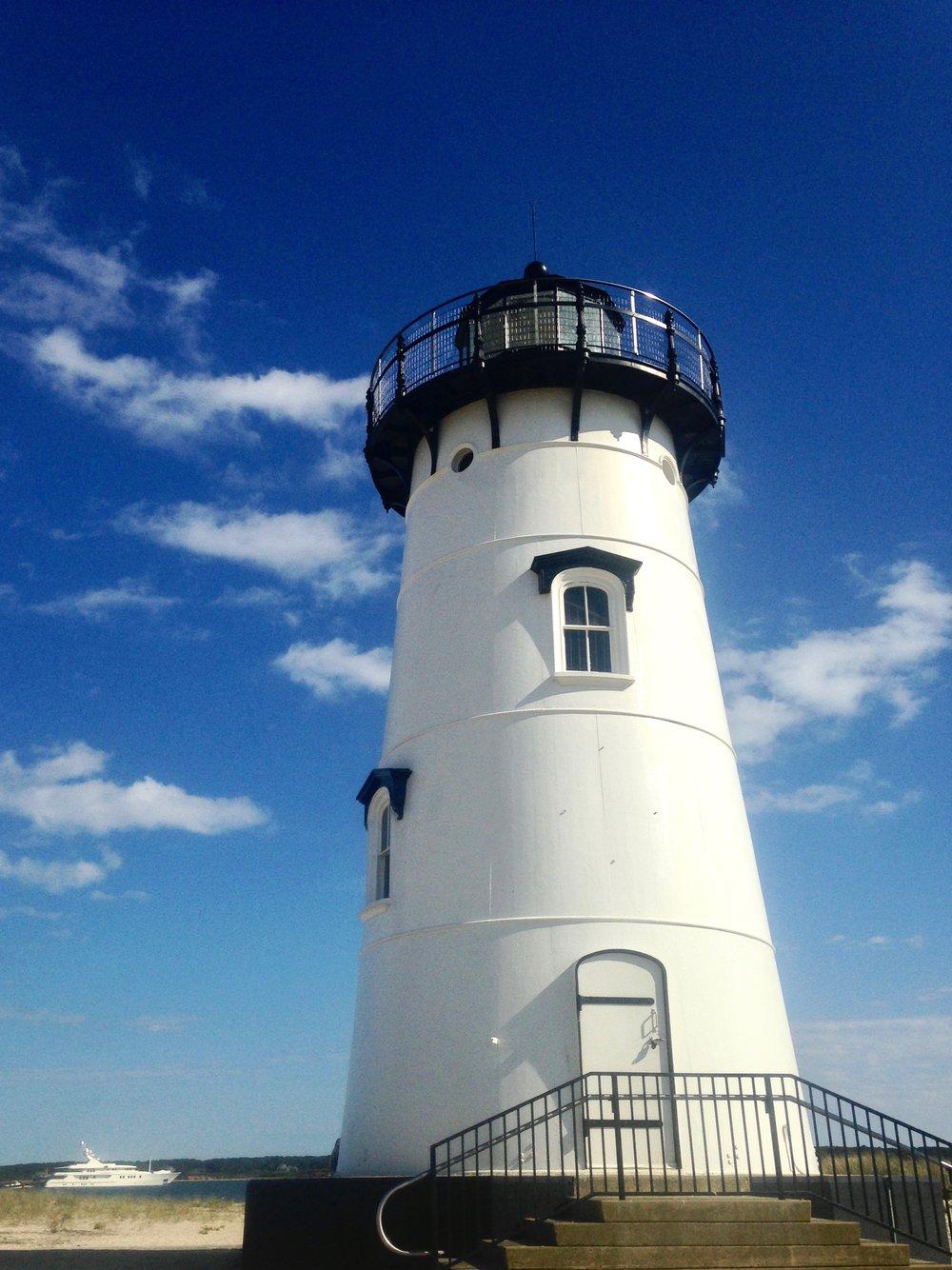 Edgartown Harbor Light    photo by L.D. Van Cleave