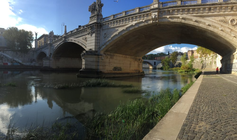 Morning by the Tiber    photo by L.D. Van Cleave