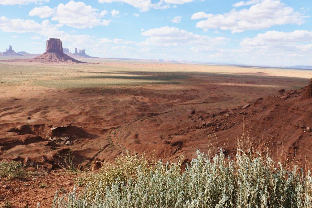 Hazy Desert Buttes    photo by L.D. Van Cleave