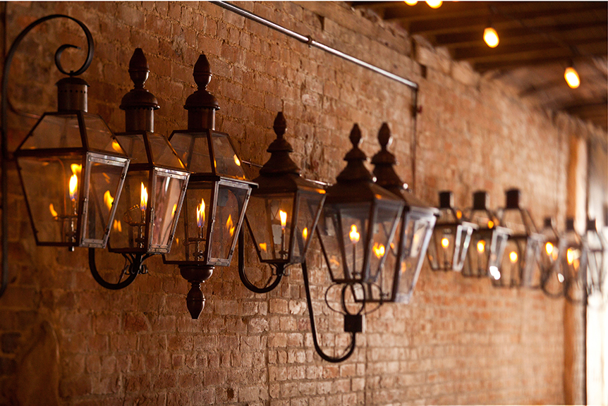 Beautiful Bevolo Gas Lamps Twinkle all over New Orleans (photo courtesy of Bevolo Gas Lamps