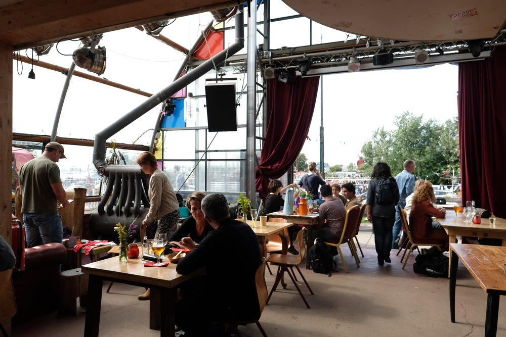 Noorderlicht Café on a Crowded Summer Afternoon | From the Article: Beyond the Red Light | A Different Class of Dutch Coffeeshop by Laura Eberschveiler | Image copyright 2019 OFAB