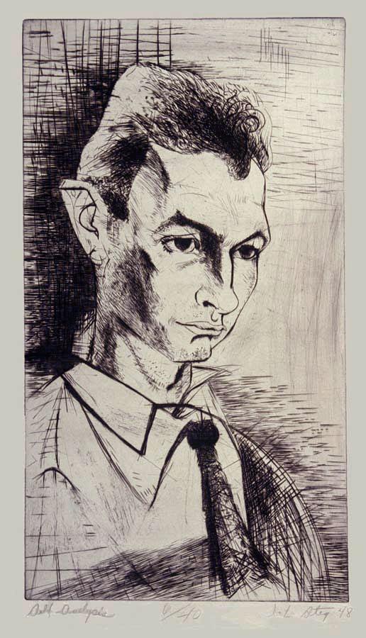Self Analysis  (Self-Portrait),1948, engraving