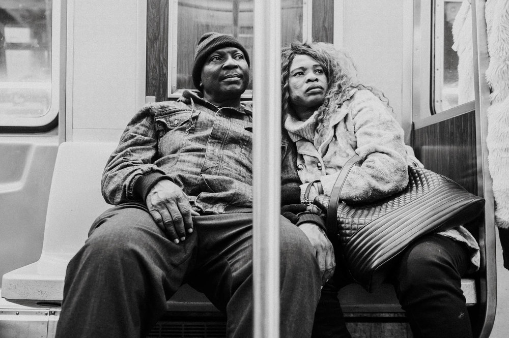 Portret in metro New York