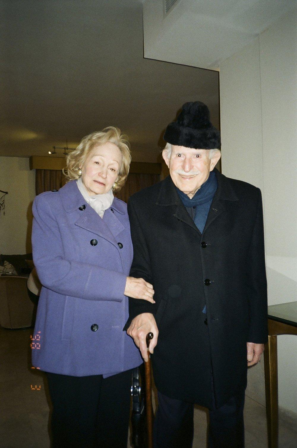 Leila Khoury Nimry with her husband, Fouad Nimry. December 2017