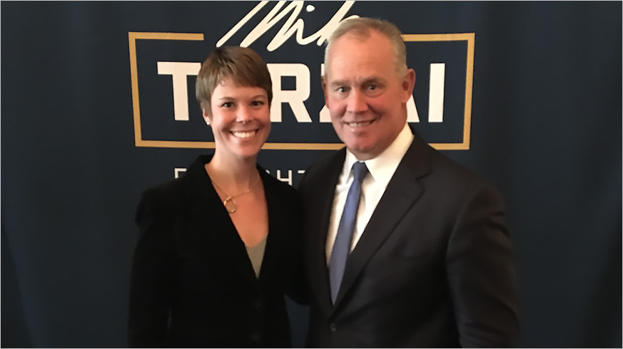 Speaker of the House Mike Turzai with the GPCC's Jenn Beer
