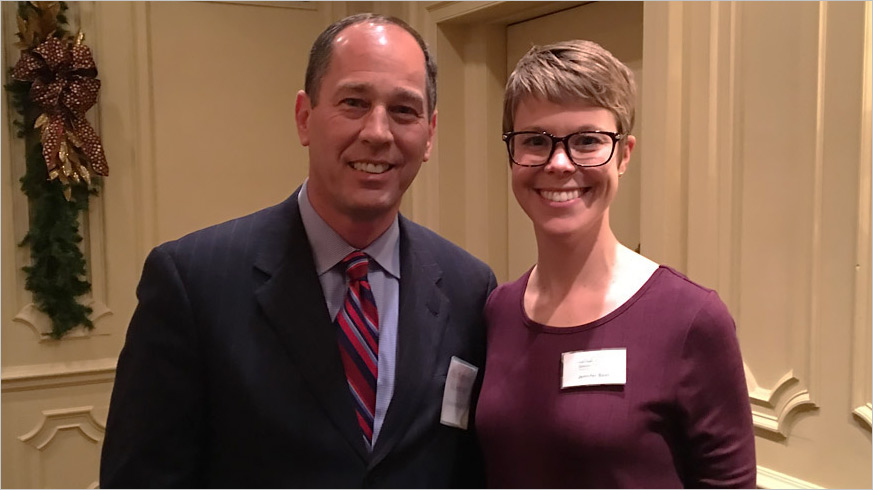 Senate President Pro Tempore Joe Scarnati with the GPCC's Jenn Beer