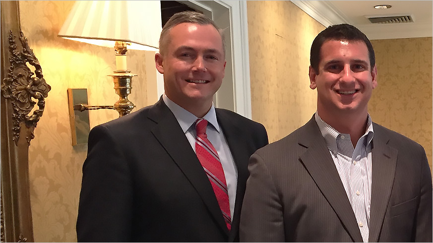 House Majority Leader Rep. Dave Reed with the GPCC's Matt Smith