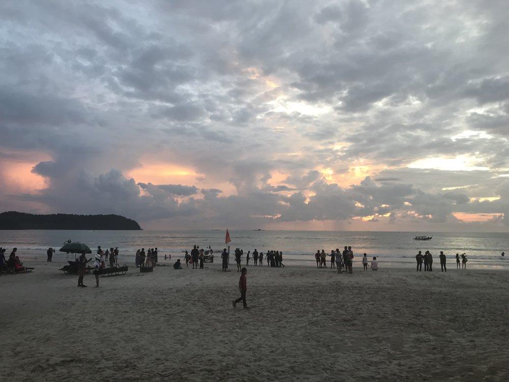 Sunset at Langkawi beach