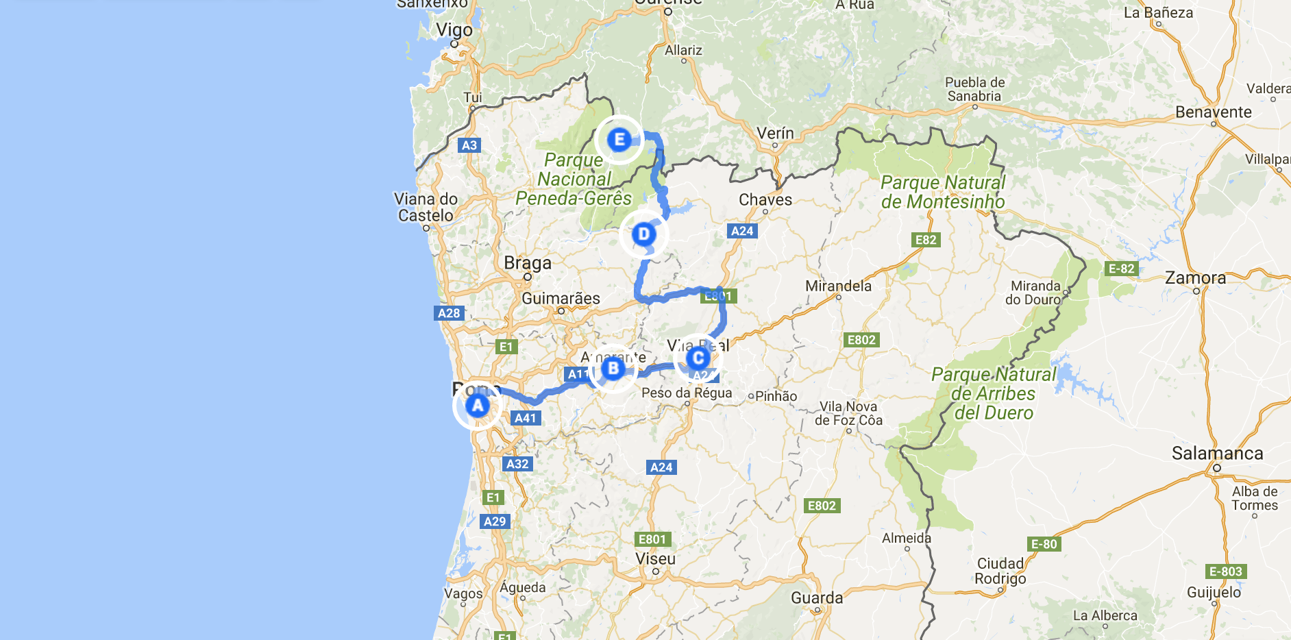 Our route to Geres